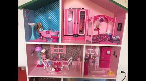 videos de casas de barbie minha casa da barbie customizada mdf mikaela sofhia