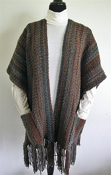 pattern crochet wrap pdf crochet pattern indian summer ruana wrap shawl