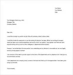 How To Write Resignation Letter To Manager by 15 Resignation Letter Templates Free Sle