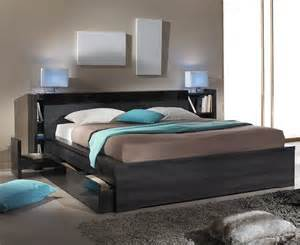 t 234 te de lit avec rangements 140 cm contemporain