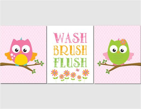 circo owl bathroom set items similar to owl bathroom wall art for kids girl