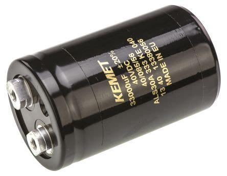 kemet pulse capacitor als30a333ke040 kemet aluminium electrolytic capacitor 33000μf 40v dc 51mm can