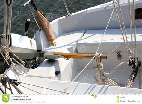 sailboat tiller boat tiller stock photo image of lines vessel knots