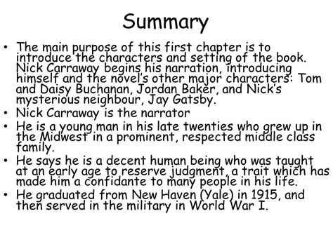The Great 1 the great gatsby summary 100 images essay topics the