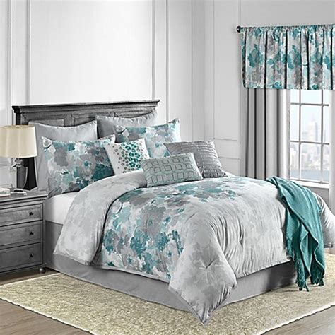 teal comforter sets full claire 10 piece comforter set in teal bed bath beyond