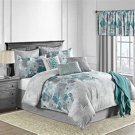 Claire 10 Piece Comforter Set in Teal   www