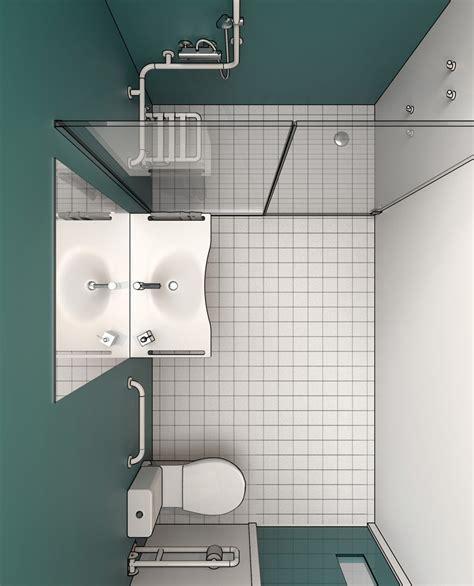 progetto bagno disabili progettazione dwg bagni disabili disegni in 3d