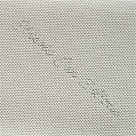 tissu ciel de toit pointe de diamant blanc casse classic car sellerie