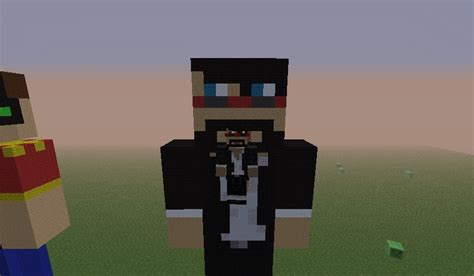 captainsparklez minecraft captainsparklez statue minecraft project