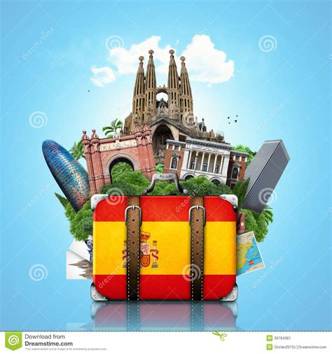 barcelona or madrid which is better to visit spain landmarks madrid and barcelona travel stock image