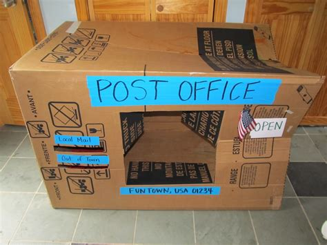 How To Make A Post Box Out Of Paper - kitchen floor crafts cardboard post office