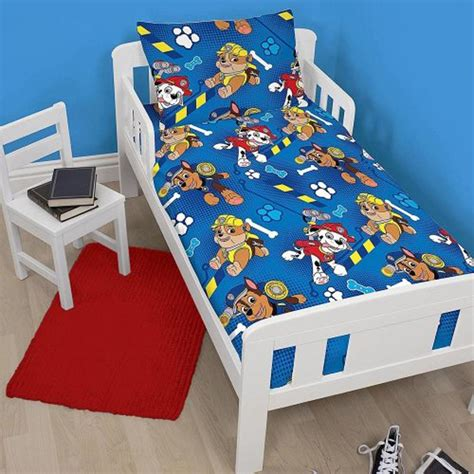 paw patrol bed paw patrol junior cot bed duvet cover set new bedding dogs ebay