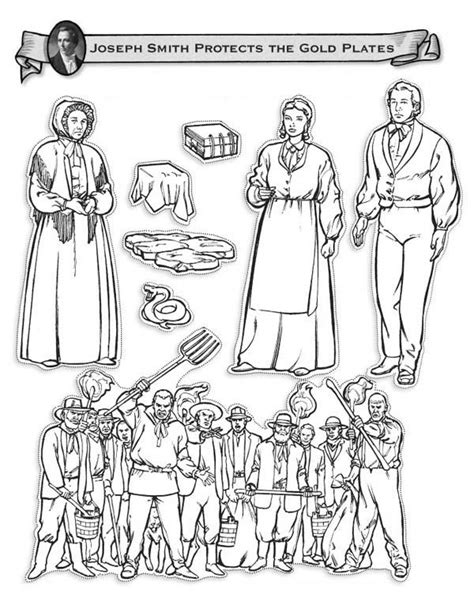 lds coloring pages joseph smith joseph smith protects the golden plates coloring page