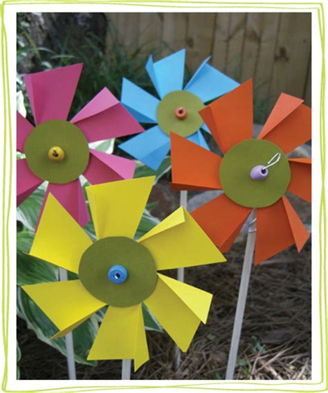 How To Make Pinwheel Flowers From Paper - flower pinwheel craft alpha