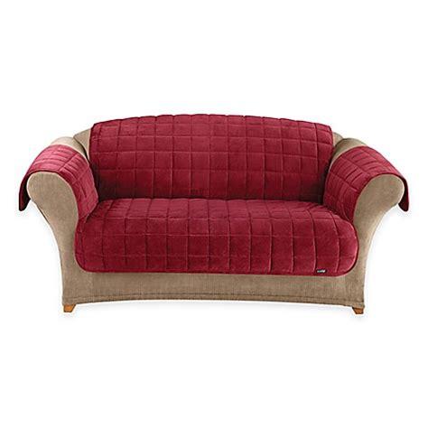 velvet sofa cover buy sure fit 174 deep pile velvet sofa cover in burgundy from