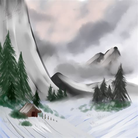 bob ross painting fog showcase a gallery the pok 233 community forums