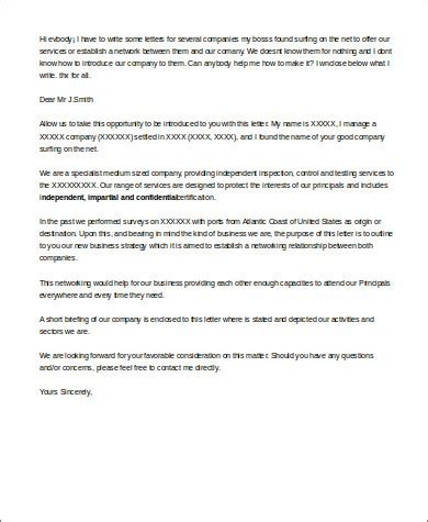 Introduction Letter For New Clients Business sle business introduction letter 3 exles in word pdf