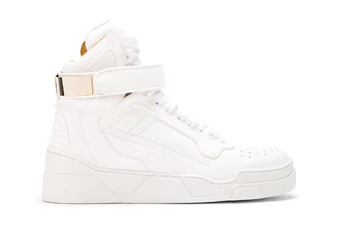 white high top sneakers for givenchy white leather gold plated high top sneakers