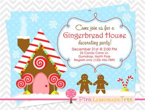 gingerbread house invitation by pinklemonadetree