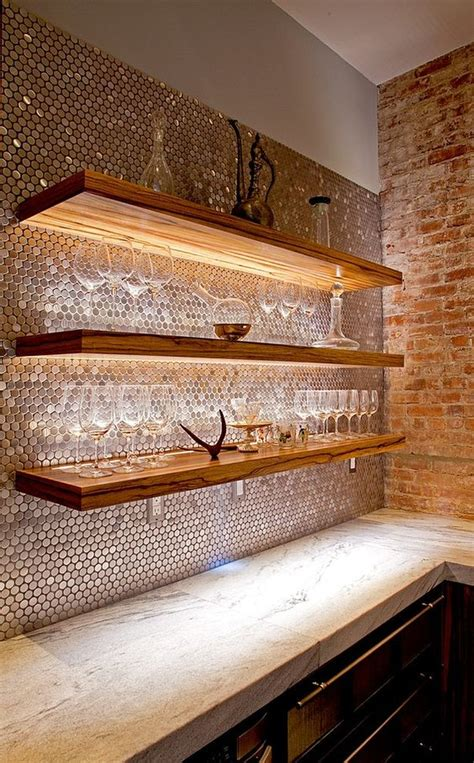 28 creative penny tiles ideas for kitchens digsdigs 28 creative penny tiles ideas for kitchens digsdigs