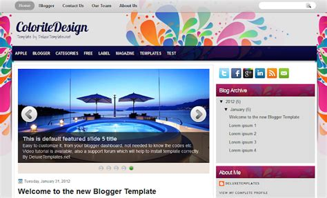 blogger templates for celebrities 25 best free blogger templates of 2012 list techno world