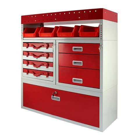 metal storage drawers for vans van racking metal shelving system steel rack tool storage
