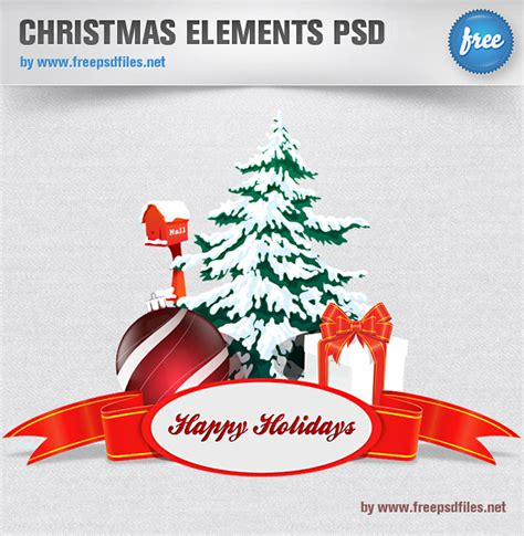 christmas elements psd free psd files
