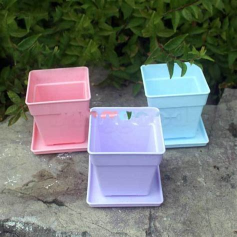 Keranjang Persegi Plastik Serbaguna 12pcs buyonsee murah besar plastik persegi pot bunga dengan nan di keranjang gantung dari rumah