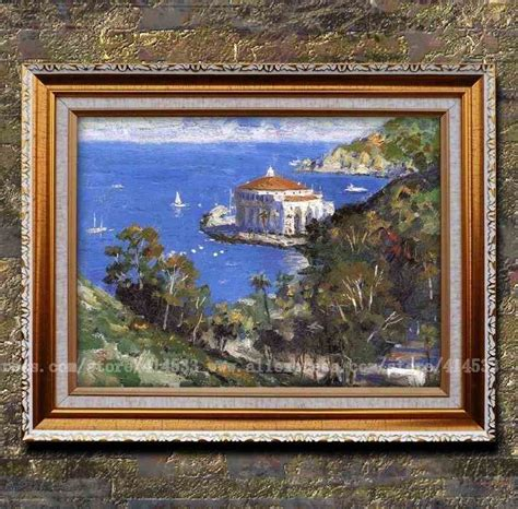 prints kinkade painting view fronm descano