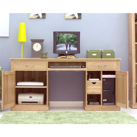 Solid Oak Home Office Furniture Mobel Desk Large Hideaway Home Computer Solid Oak Office Furniture