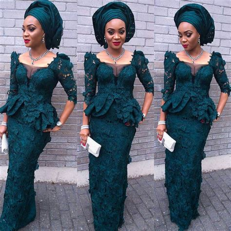 green lace nigerian women designs for weddings traditional introduction ceremonies nigeria proposal