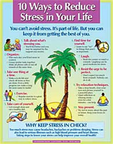 10 Ways To Stop Stress by 10 Ways To Reduce Stress In Your Display Poster
