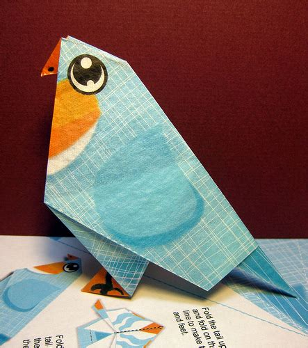 Origami With 8 5x11 Paper - origami blue bird flickr photo