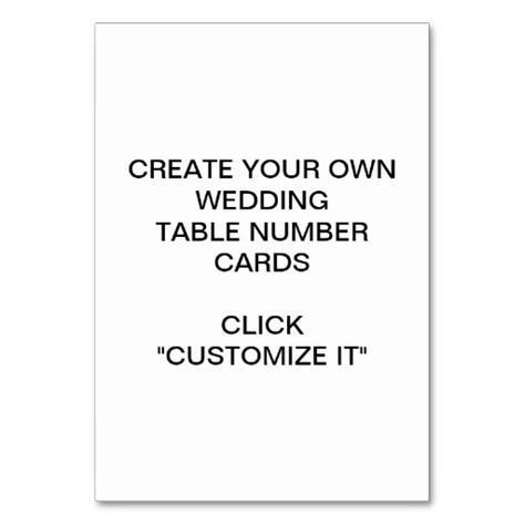 make my own table create your own wedding table card zazzle