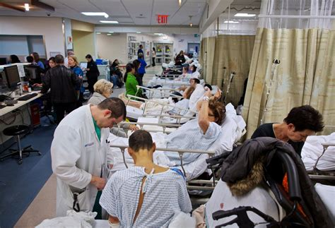 emergency room nyc with some hospitals closed after hurricane others up slack the new york times