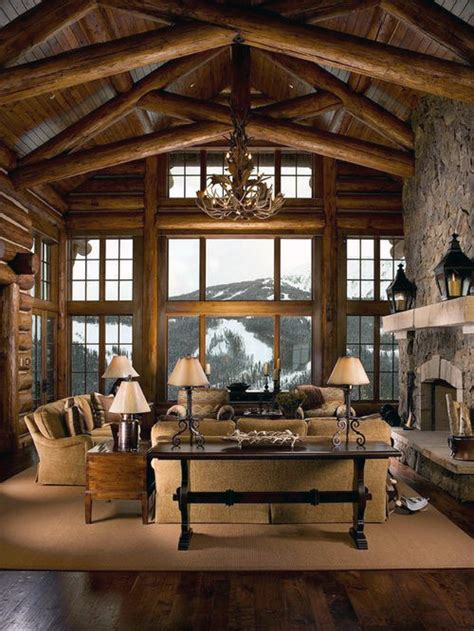 Best Log Cabin Decorating Ideas Top 60 Best Log Cabin Interior Design Ideas Mountain Retreat Homes