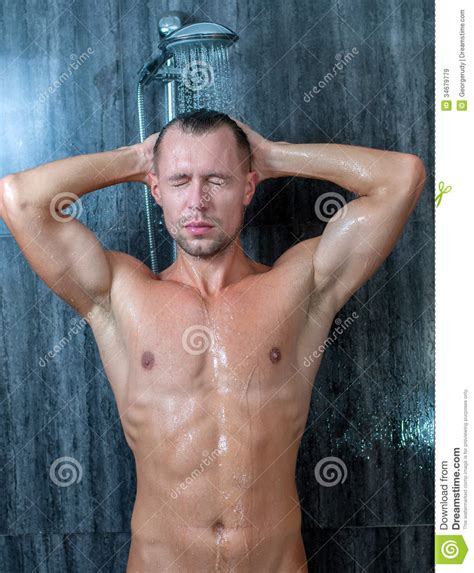 Guys Taking Showers by Up Of A Taking A Shower