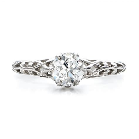 estate solitaire edwardian engagement ring 100896