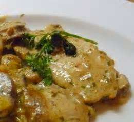 lindaraxa veal scallopini with mushrooms and a mustard