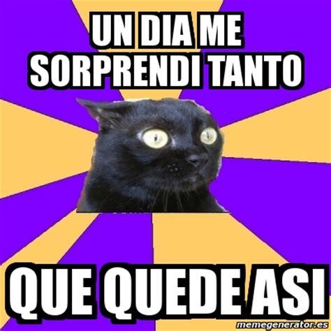Anxiety Cat Meme Generator - meme anxiety cat un dia me sorprendi tanto que quede asi
