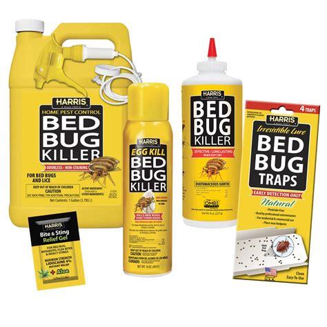 harris bed bug killer kit system diatomaceous earth chemical spray traps bedbugs  ebay