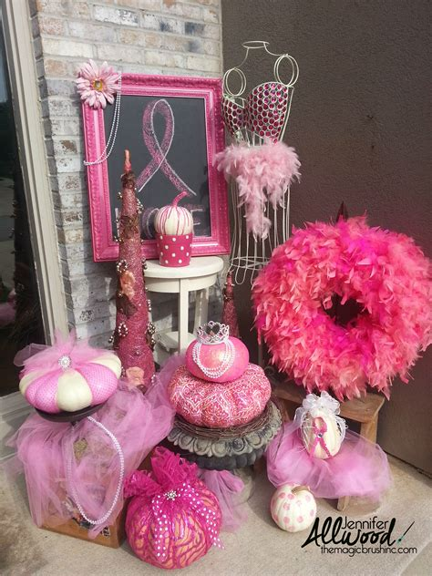 Pumpkin Decorating For Breast Cancer Awareness by Pink Pumpkin Fall Decor For Breast Cancer Awareness Month