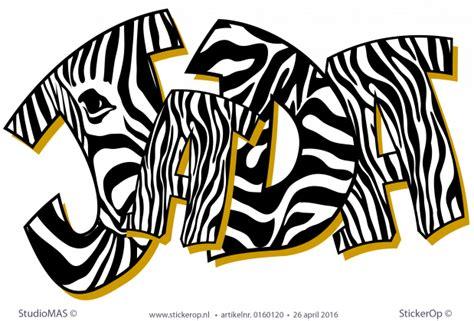 muursticker graffiti zebraprint jada