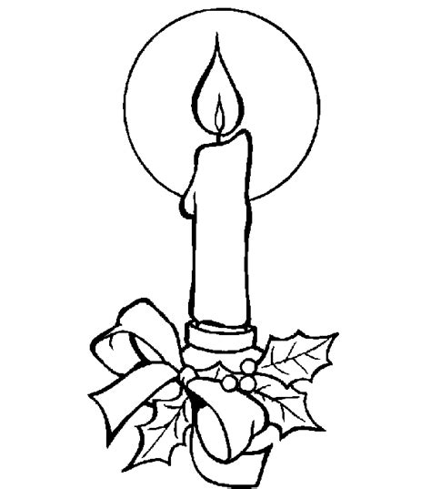 coloring page christmas candle coloring pages 8