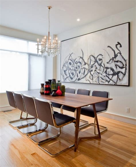 dining rooms  oversized art modern dining tables