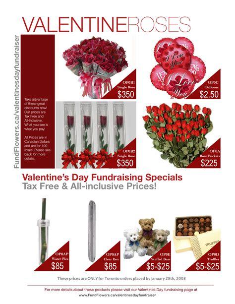 valentines fundraiser fund flowers