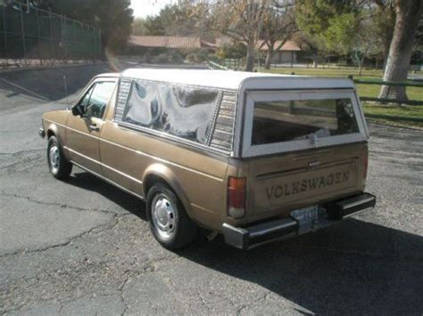 purchase   vw rabbit diesel pickup  spd ac fresh rebuilt engine camper shell bed liner