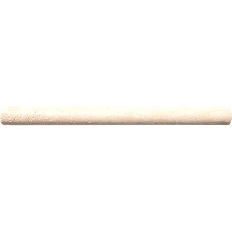 ms international chiaro 3 4 in x 12 in travertine pencil molding wall tile mp ch0 75x12 the
