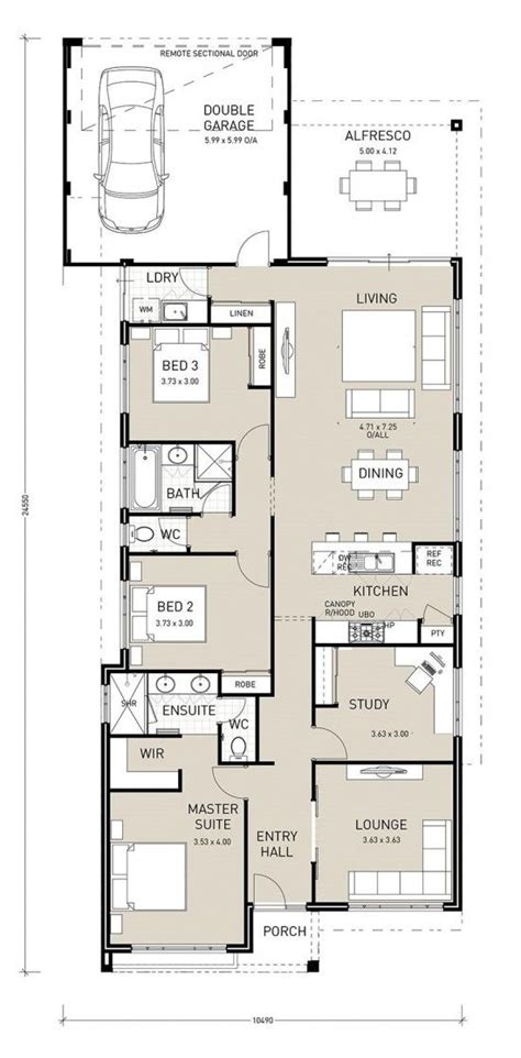 home plan ideas this rear garage home design flows effortlessly with two living areas one overlooking your