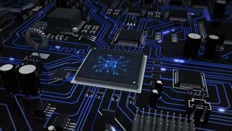 circuit board animation abstract circuit board high technology 3d animation